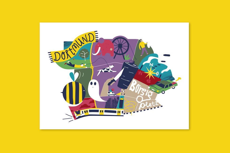 Dortmund kunterbunt illustriert